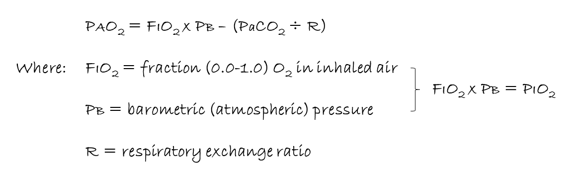 atmospheric pressure equation. alveolar gas equation atmospheric pressure